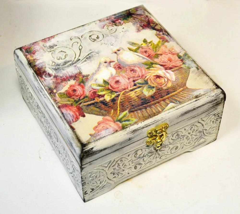 Декупаж деревянной коробки