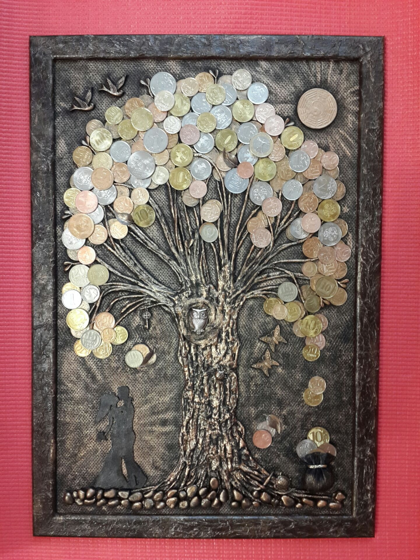 Картина денежного дерева из монет своими руками с видео