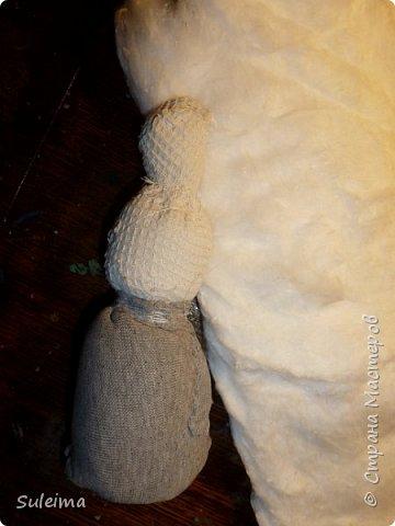Снеговик из ваты своими руками. мастер-класс. видео