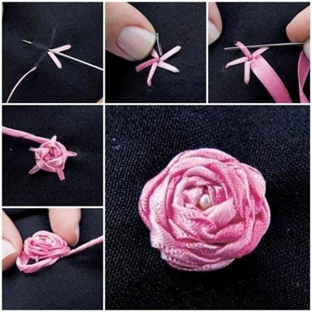 10 способов сделать розу из ленты - сделай сам - медиаплатформа миртесен