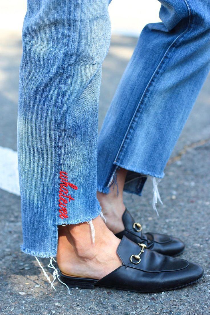 Как подшить джинсы | как правильно обрезать и подшить на машинке