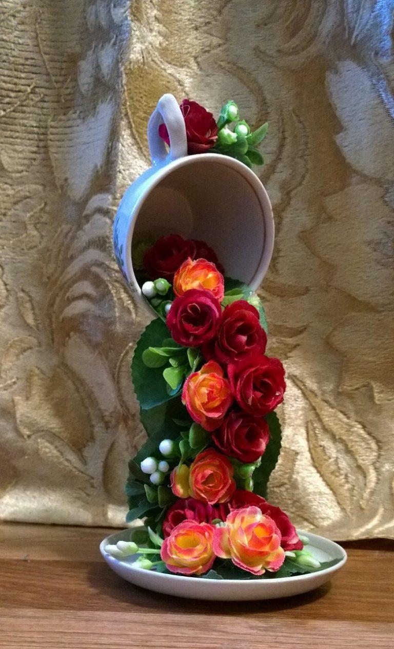 Как сделать водопад из цветов. парящая чашка - водопад