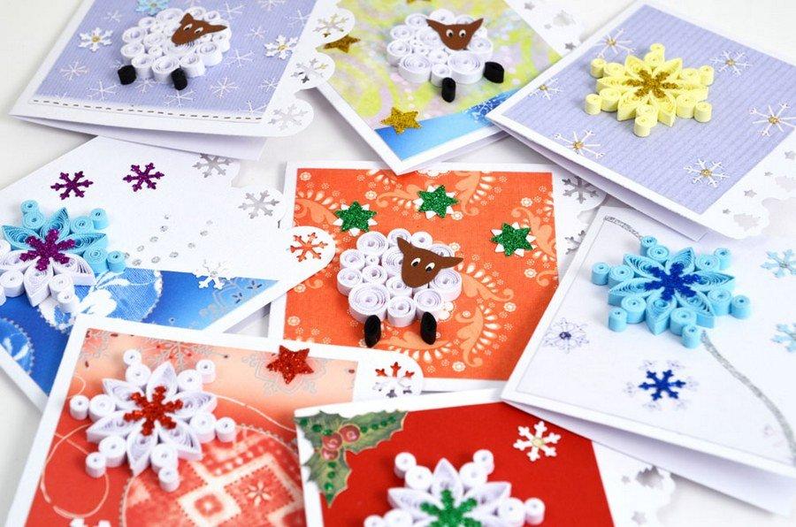 Новогодние открытки своими руками 2019, как сделать или нарисовать зимнее послание с объемной собакой, креативный дизайн из бумаги, красивые идеи декора поздравлений