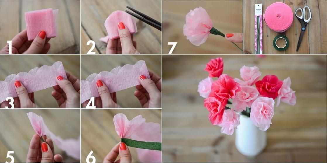 Цветы из салфеток на ветку своими руками. бумажное искусство: учимся творить цветы из салфеток