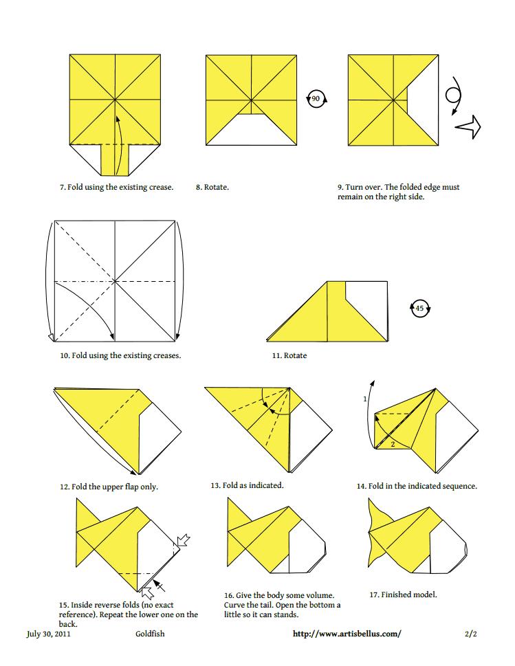 Как сделать рыбку из бумаги поэтапно. как сделать из бумаги рыбку легко и быстро