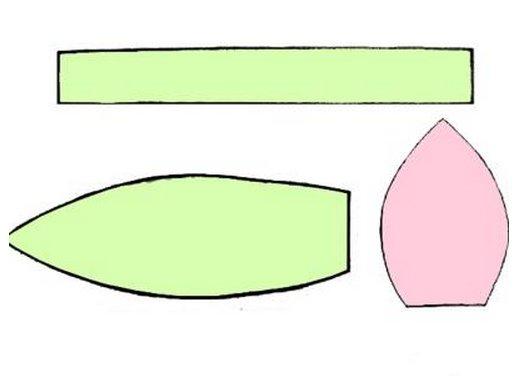 Тюльпан из ткани с выкройкой