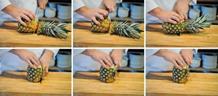 Как быстро почистить ананас?