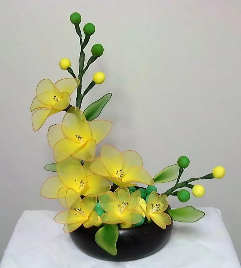 Цветы из капрона своими руками для начинающих: пошагово создаем красоту