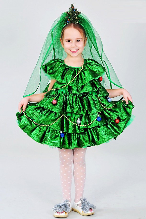 Новогодний костюм для дочери...  елочка!!!