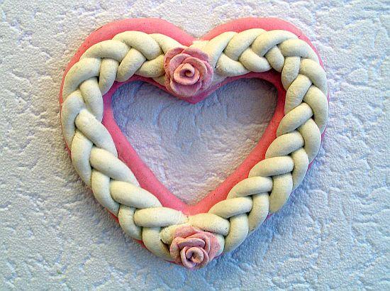 Поделка изделие валентинов день лепка валентинки из соленого теста тесто соленое