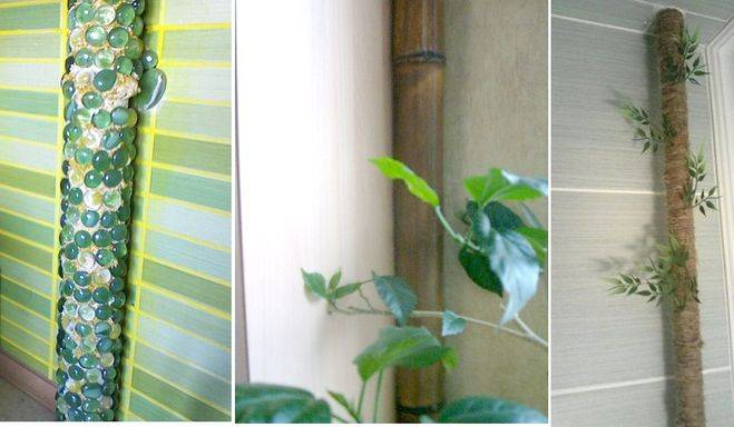 Как задекорировать трубу отопления в комнате от батареи +45 фото