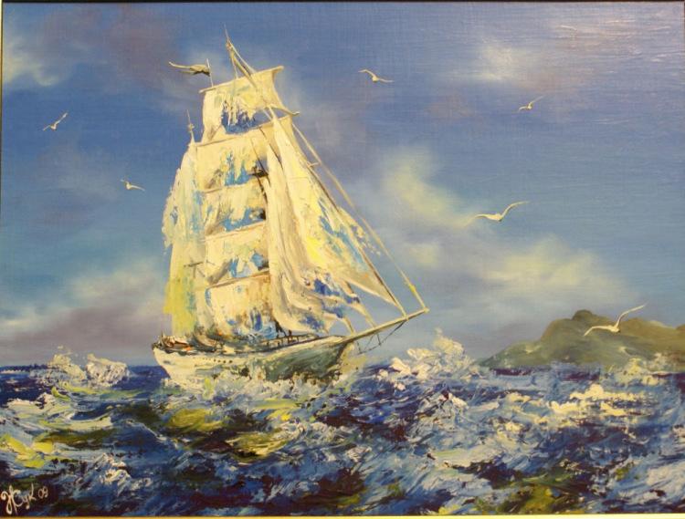 "Картины из соломки-""парусное путешествие"". соломка картины"