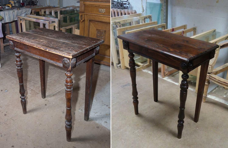 Реставрация стола своими руками: способы обновления столешницы, фото
