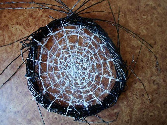 Как сделать паутинку из природных материалов. паук из пряжи. пошаговый мастер-класс по созданию декора