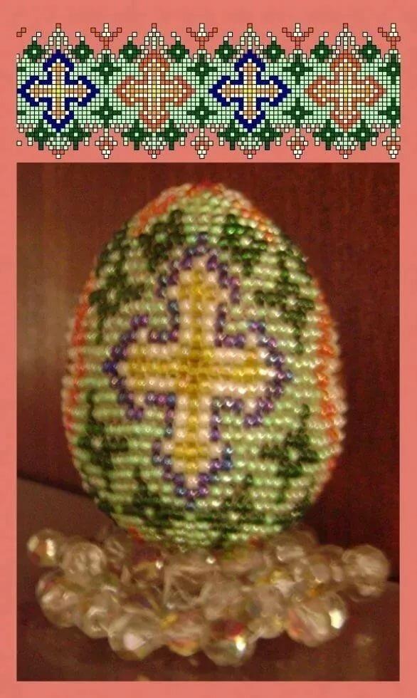 Мк яйцо оплетенное бисером   страна мастеров