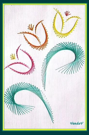 Секреты вышивки в технике изонить: основные приемы для начинающих и детей, 123 схемы с цифрами и открытки | крестик