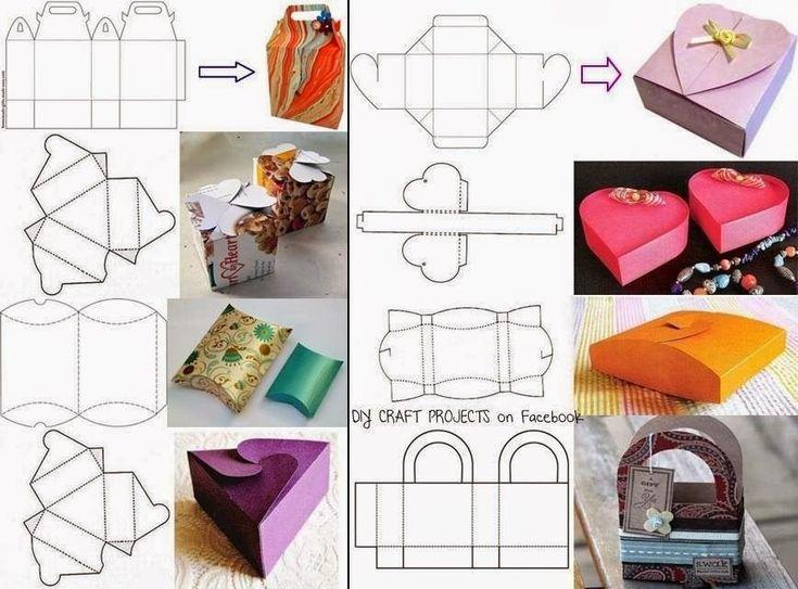 Коробка из картона. как сделать своими руками, схемы с размерами, фото а4, без клея, с крышкой