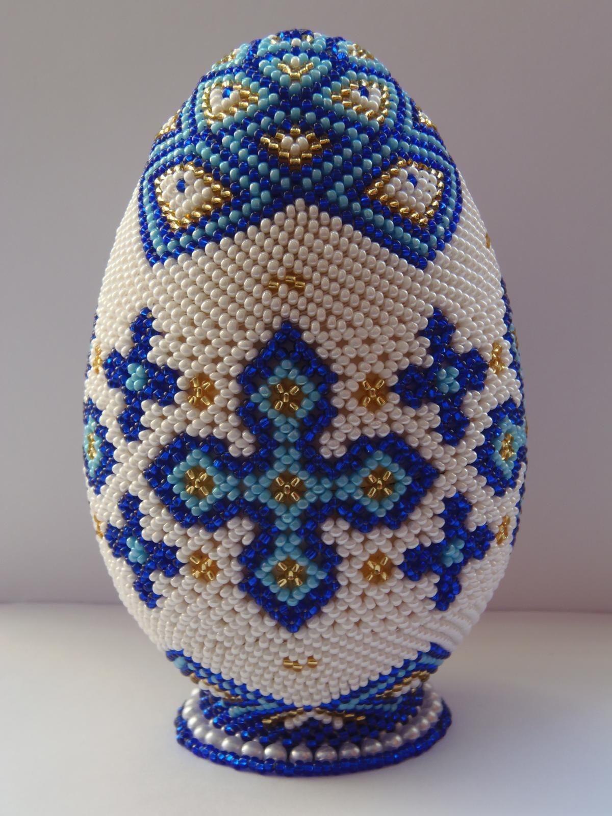 Как сделать пасхальное яйцо из бисера