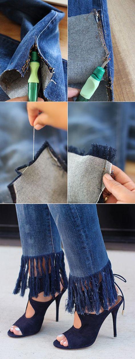 Как подшить джинсы, не обрезая, как укоротить джинсы с сохранением фабричного края в домашних условиях