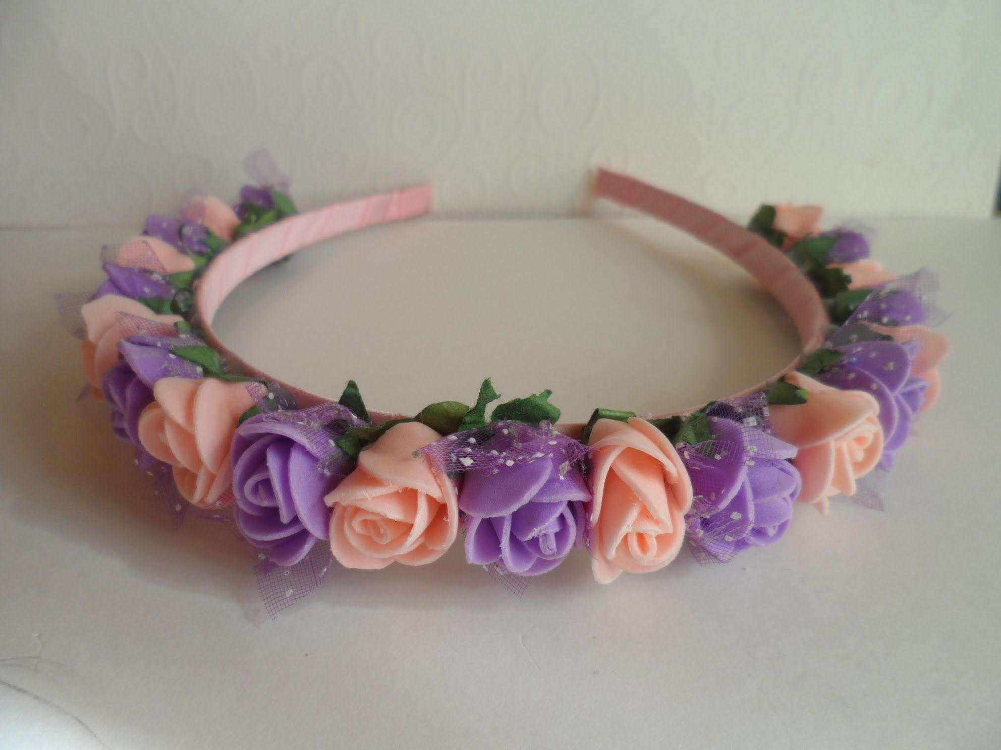 Ободок с цветами из атласных лент своими руками - мастер-класс