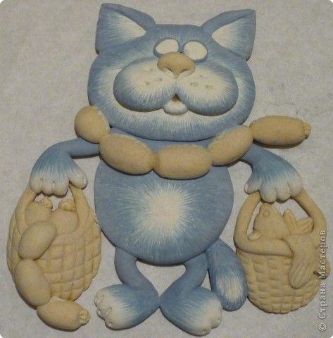 Кот из соленого теста пошагово: мастер-класс с фото и видео