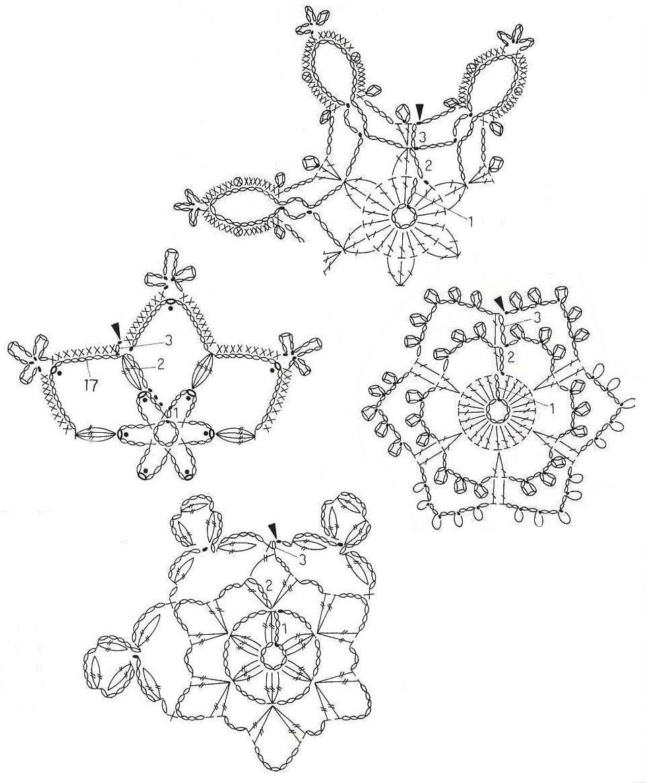 ᐉ очень красивые вязаные крючком снежинки. вязаные снежинки крючком: схемы с описанием и инструкциями ➡ klass511.ru