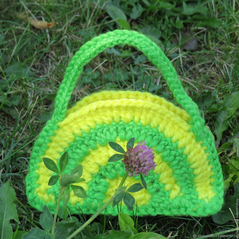 Сумочка крючком (детская). схемы, описание. сумочки для девочек