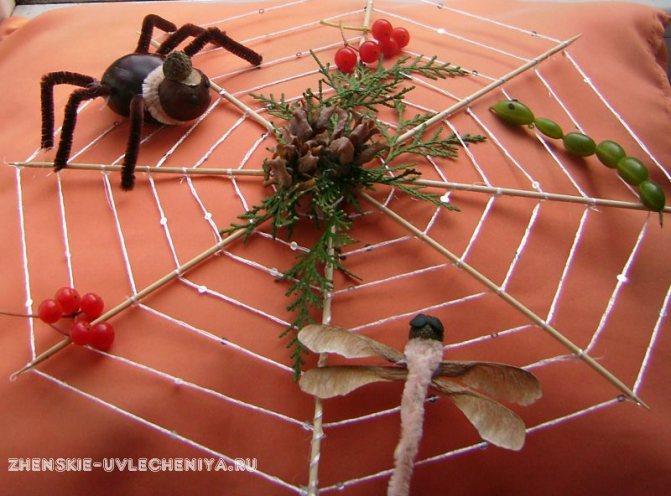 Как сделать паучка своими руками из ниток. делаем паутину из ниток
