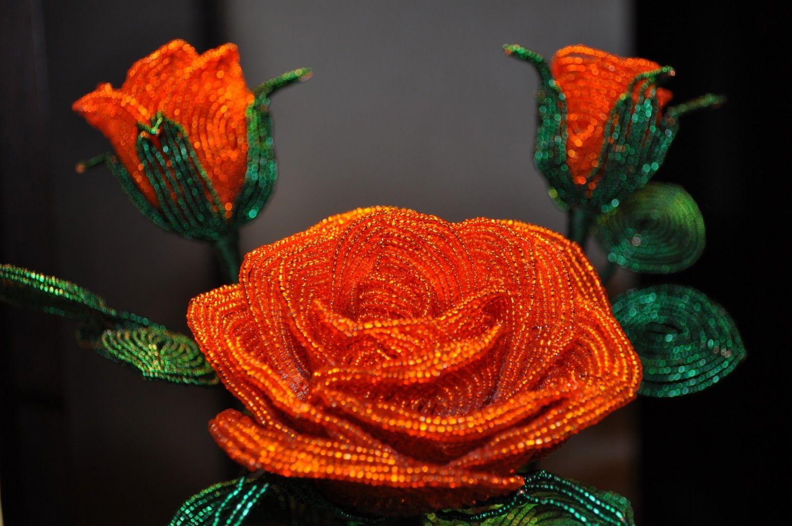 Бисерная флористика основы бисероплетения, цветы из бисера – бисерок