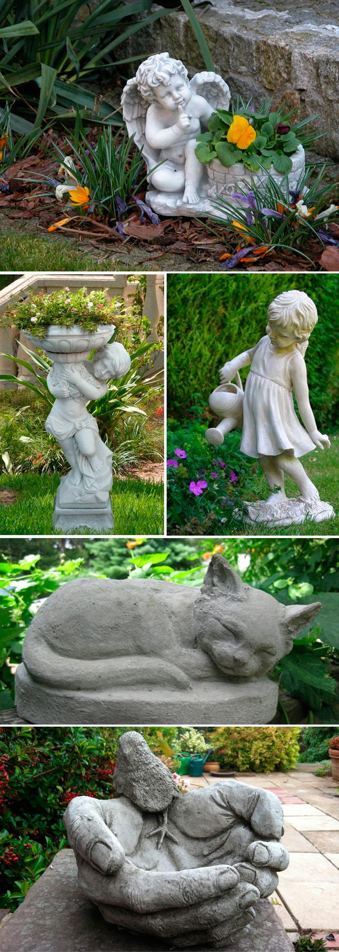 Скульптуры из бетона (фигуры) технология изготовления своими руками | все о бетоне