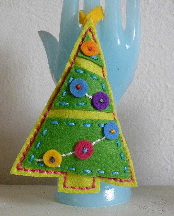 Игрушки из фетра на новый год: выкройки, украшения на елку, поделки из фетра к новому году своими руками, пошаговые инструкции