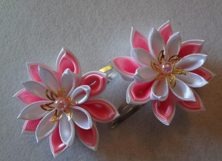 Мастер-классы по изготовлению из лент канзаши разных форм