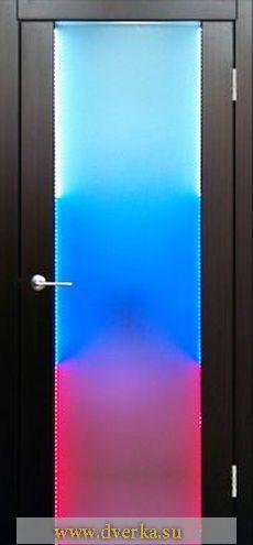 Изготовление межкомнатной двери с подсветкой.