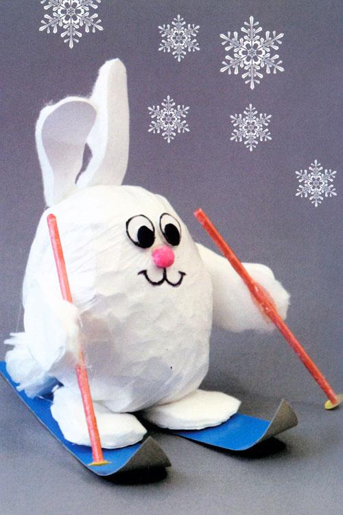 """Новогодняя игрушка """"зайчик"""" своими руками, мастер - класс с фото, пошагово"""