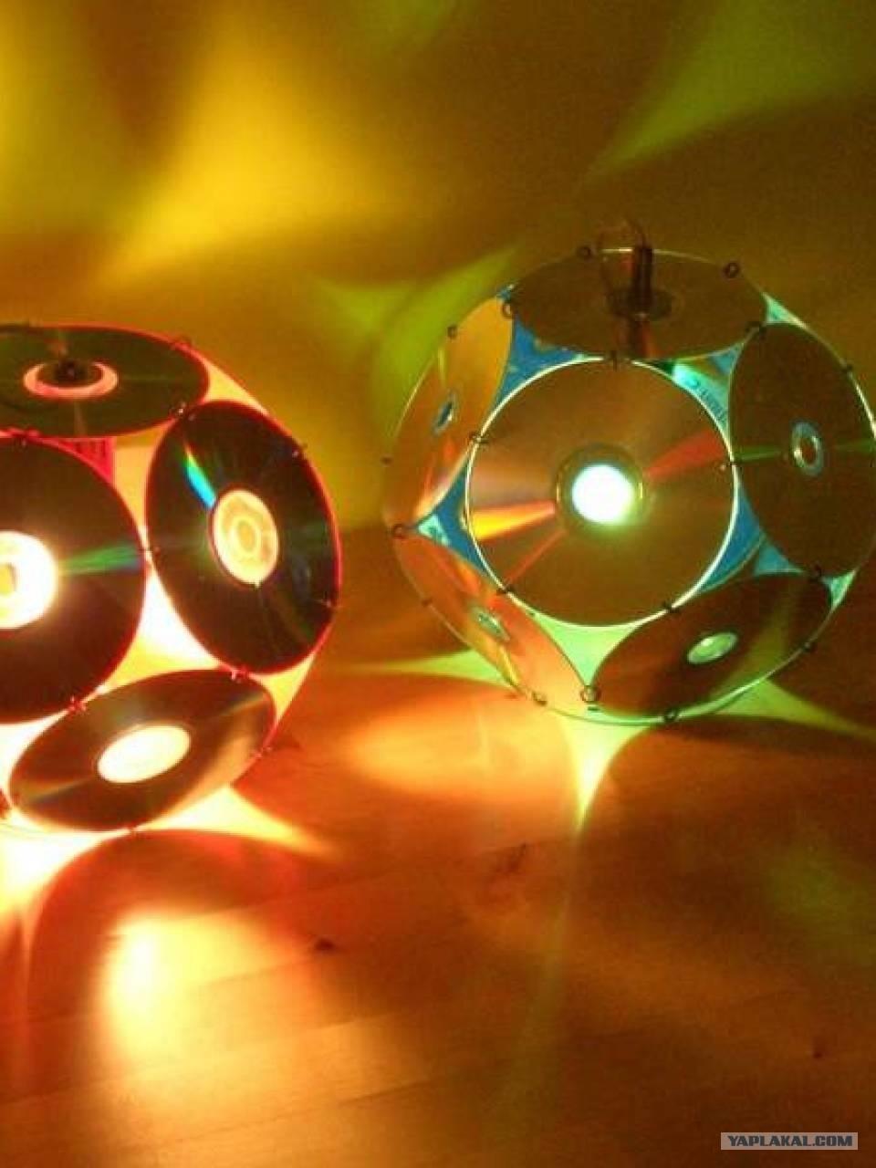 Светильник из cd дисков - секрет мастера - сделай своими руками