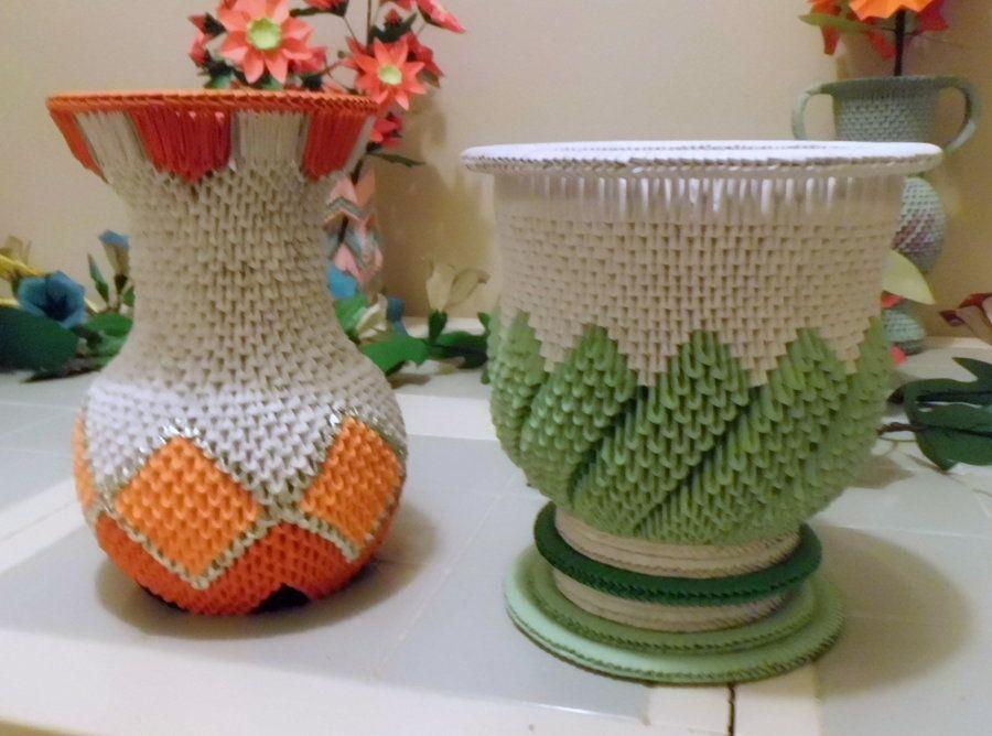 """Поделка изделие 8 марта день матери оригами китайское модульное мк ваза """"лотос"""" бумага"""