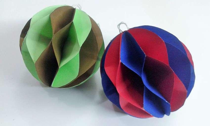 Новогодние шары из бумаги своими руками - 25 идей пошагово с фото