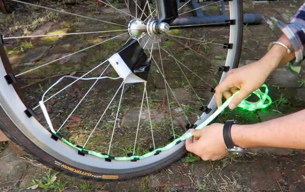 Как сделать подсветку для велосипеда из светодиодов