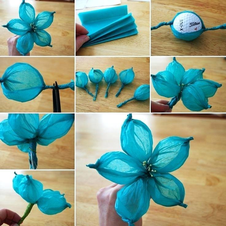 Как сделать цветы из салфеток быстро и просто: 15 способов создания букетов роз, гвоздик, пионов