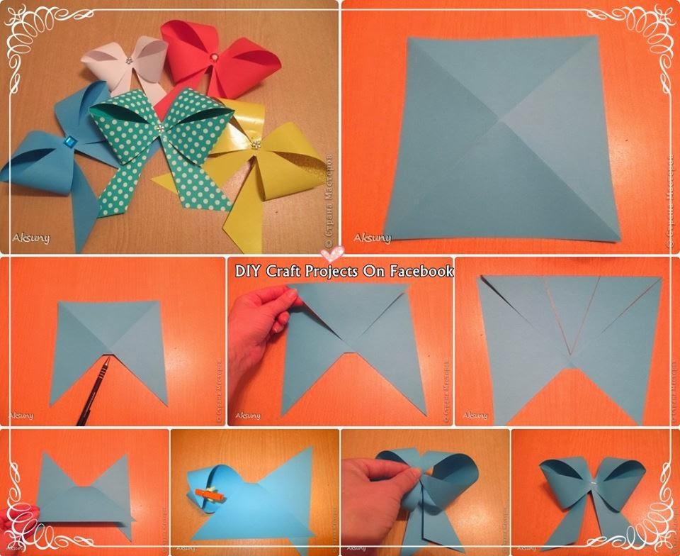 Как сделать бантик из бумаги: 2 пошаговых мастер-класса с фото и схемой по изготовлению бумажного банта