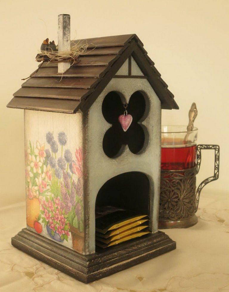 Мастер-класс поделка изделие декупаж лепка моделирование конструирование рисование и живопись чайный домик мк краска крупа тесто соленое