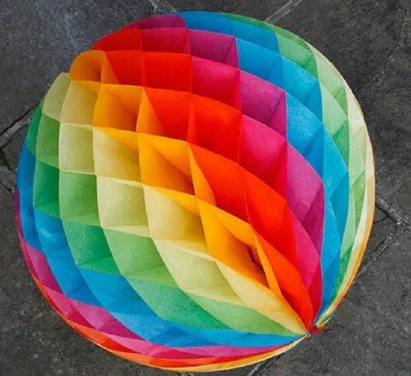 Как сделать шар из бумаги — простая пошаговая инструкция с фото и схемами как изготовить бумажный шар (120 фото)