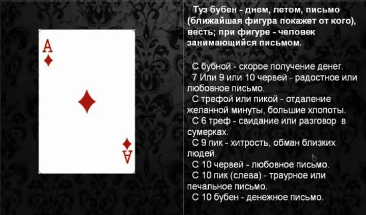 Сочетание карт при гадании тузы гадание на судьбу на игральных картах 36