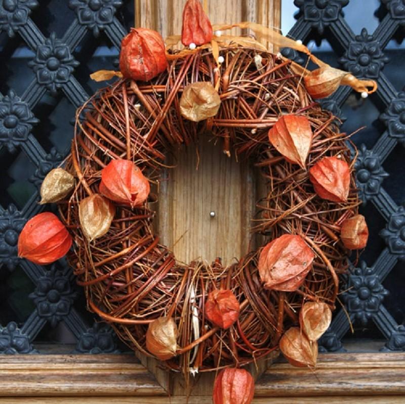 Рождественский венок из веток, прутьев и лозы: мастер классы с фото