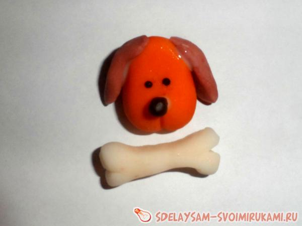 Магнит «собачка» из холодного фарфора - своими руками