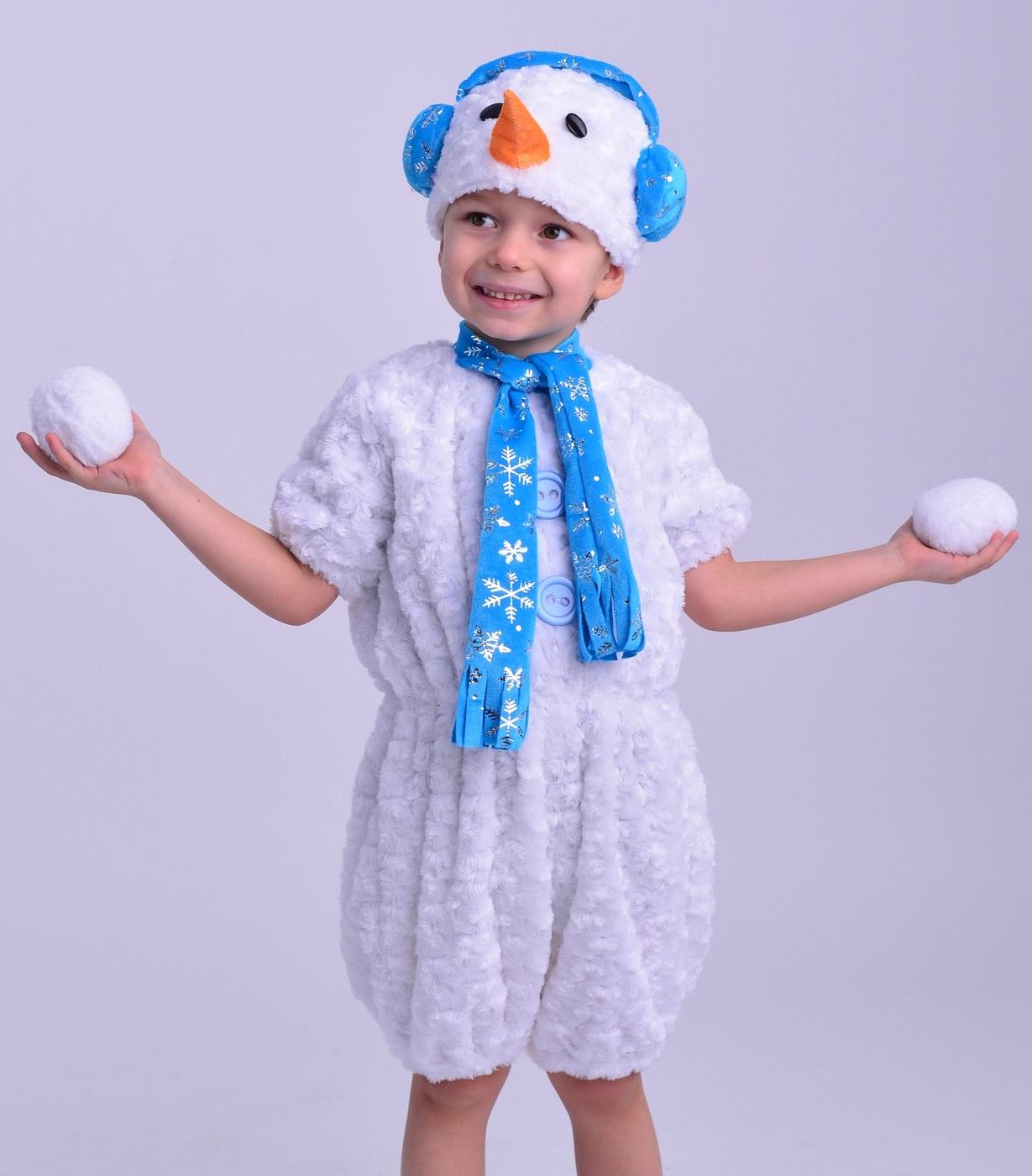 Делаем своими руками новогодний костюм снеговика для мальчика