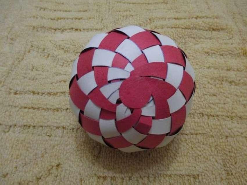 Объемный футбольный мяч из бумаги своими руками - поделка с детьми