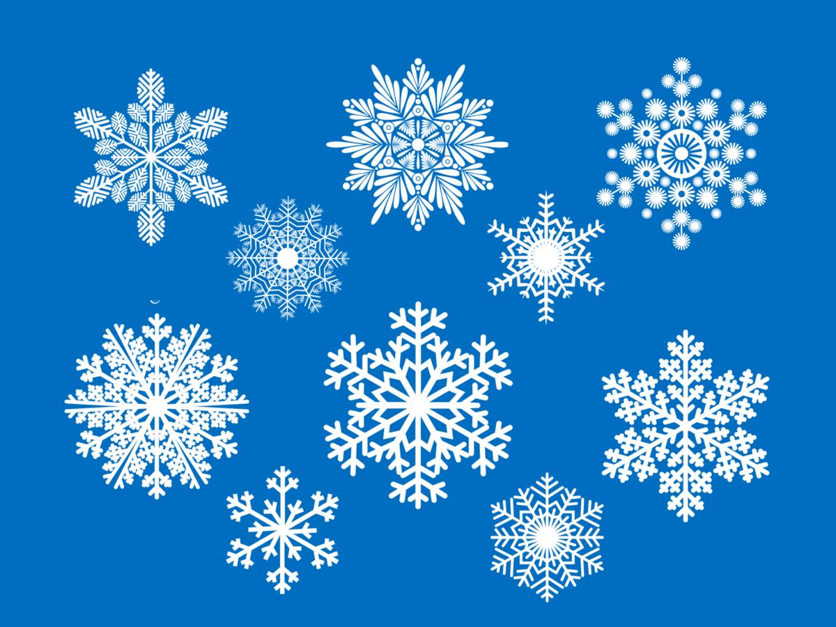 Шестиконечные снежинки