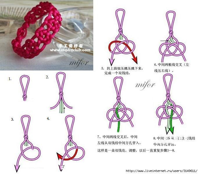 Плетение оригинальных браслетов в технике макраме своими руками