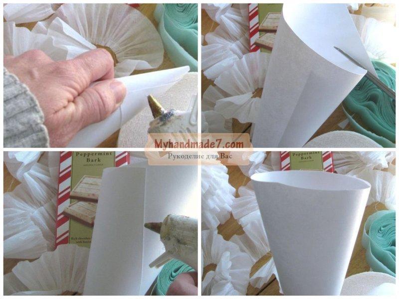 Елка из гофрированной бумаги